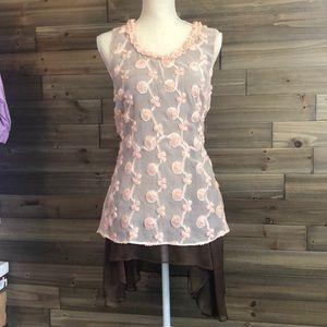 ⭐️ A'Reve Sleeveless Pink Tunic Dress Size M ⭐️